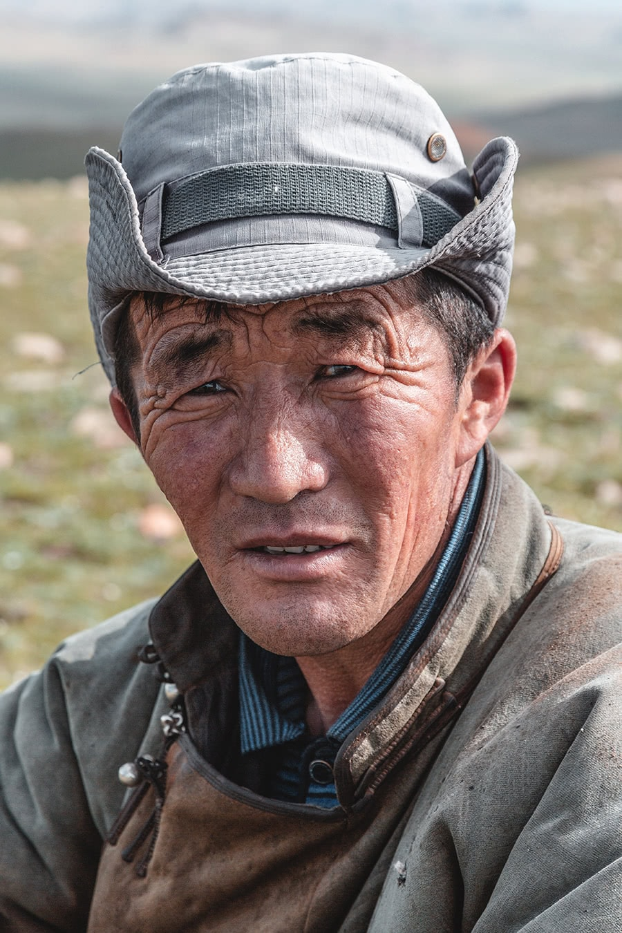 A man from the Myangad Mongol ethnic group in western Mongolia.