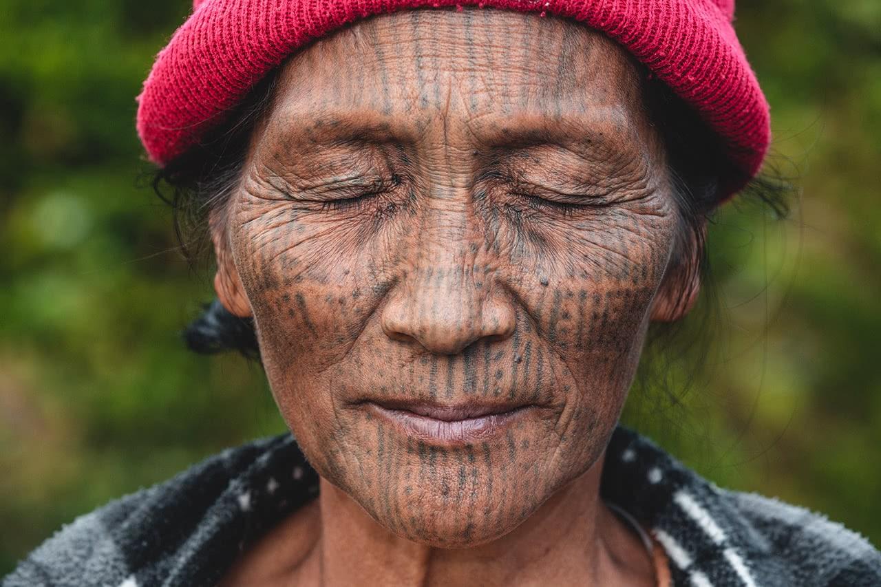 A Nga-Ya Chin woman, Kanpalet, Myanmar.