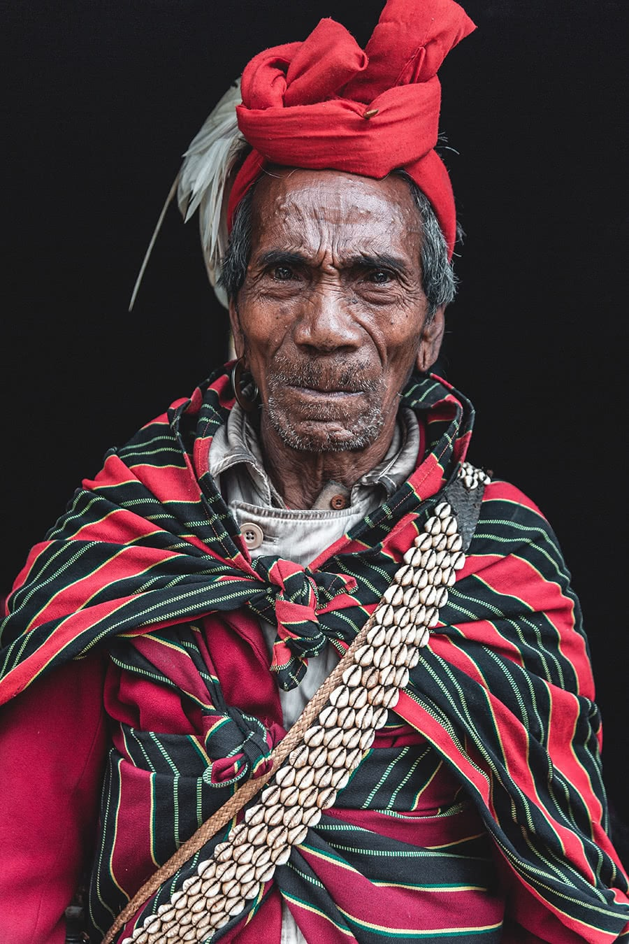 Village chief from the Munn Chin tribe in Myanmar.