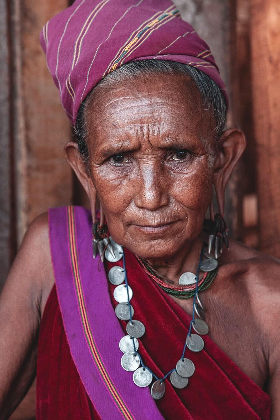 A woman from the Kayah tribe, at Dawdama Gyi village, Myanmar.