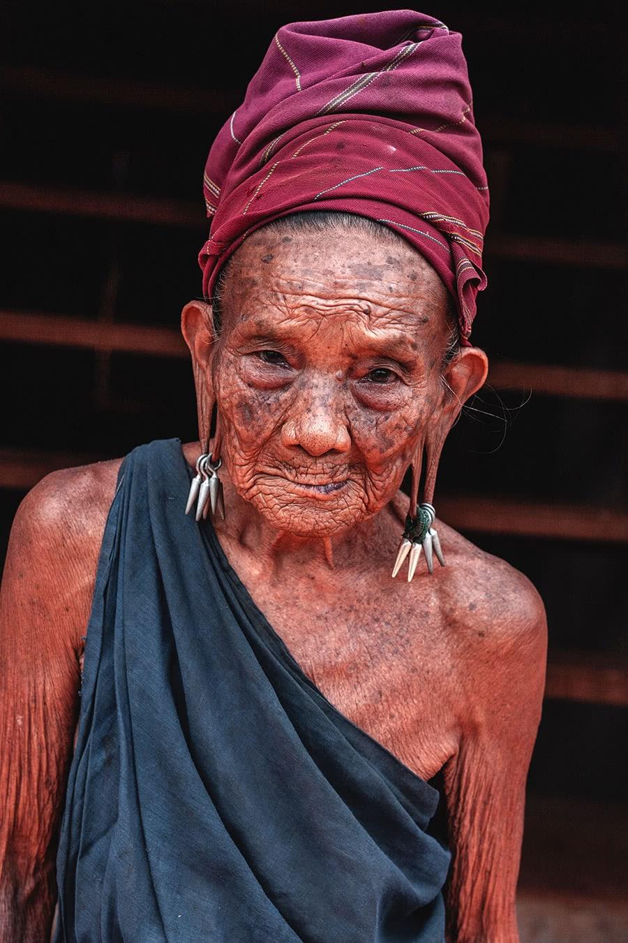 A woman from the Kayah tribe, at Dawsaw Pyar village, Myanmar.