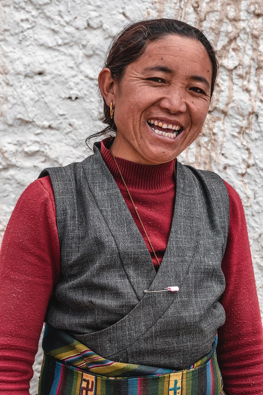 A woman from Upper Mustang, Nepal.