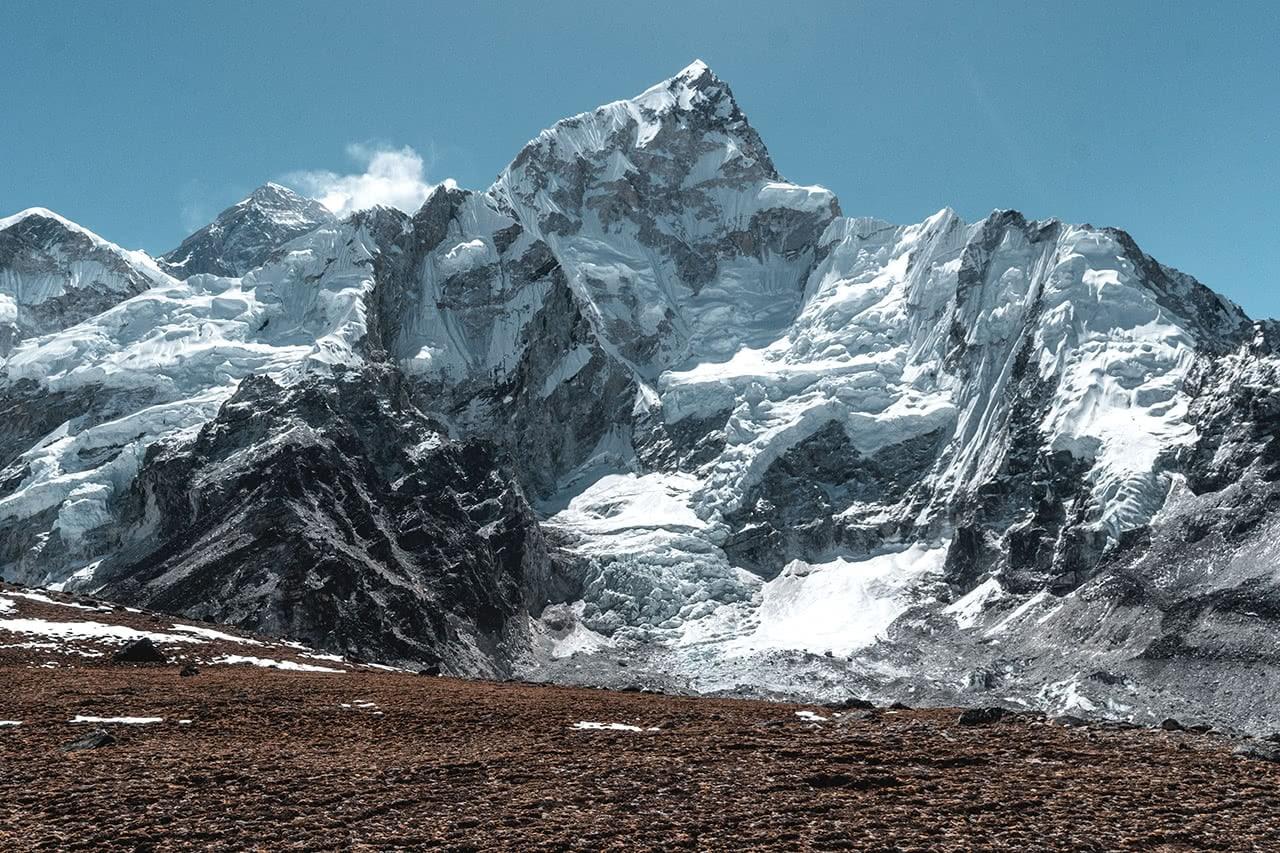 View of Mount Everest taken from Kala Patthar in Nepal.