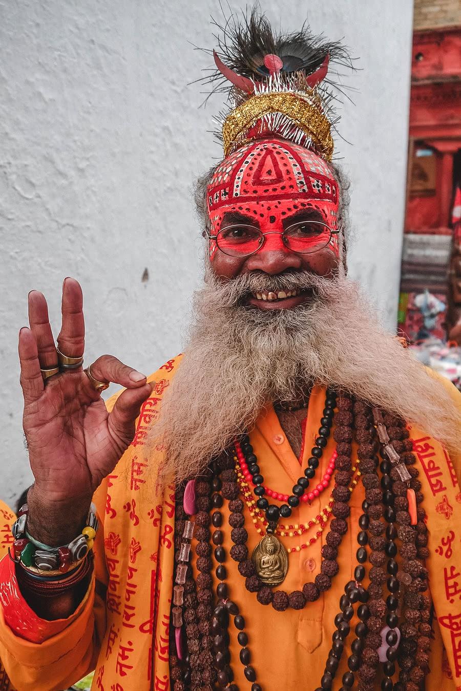 Sadhu on the streets of Kahtmandu.