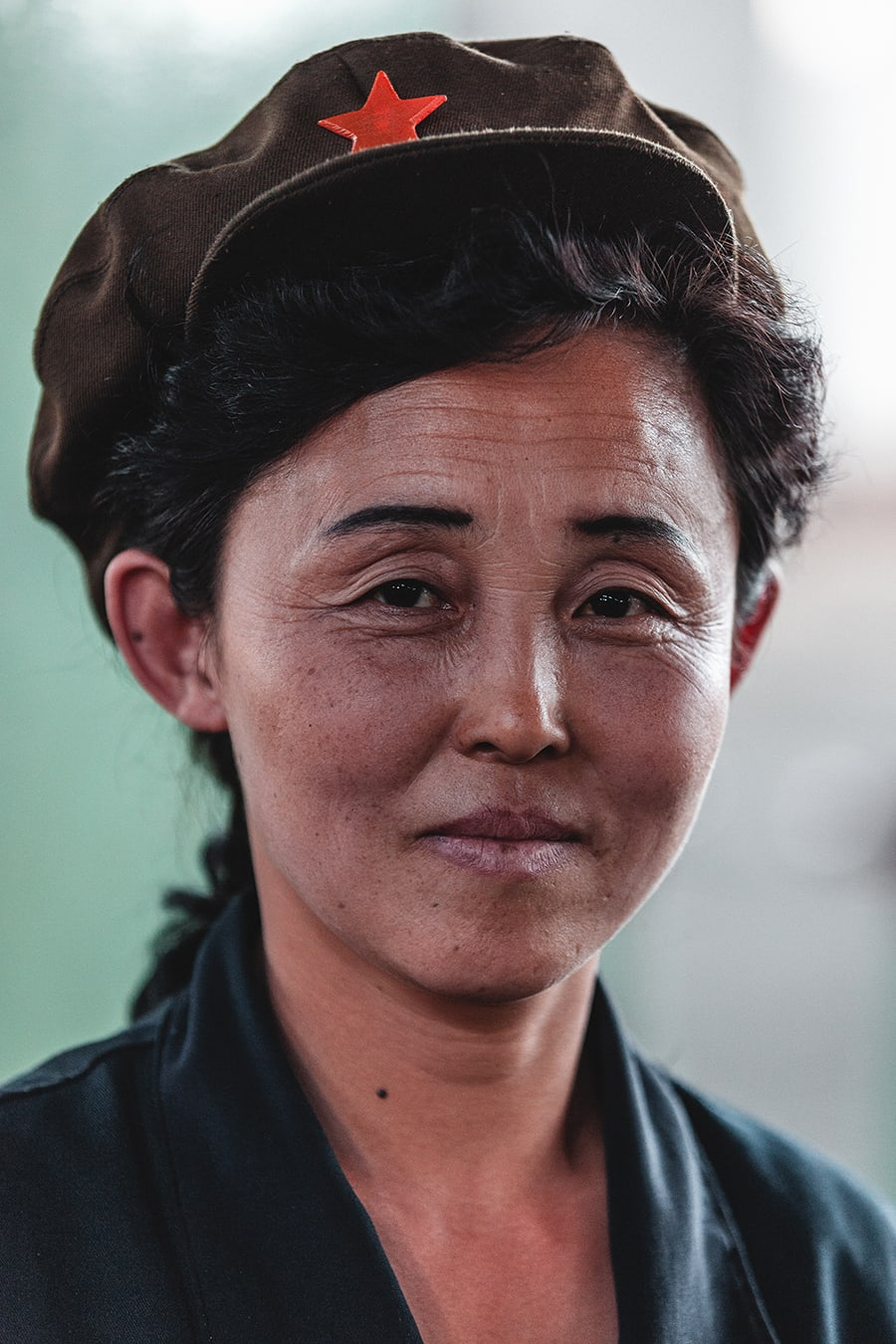 A factory worker at the Hungnam Fertilizer Factory in Hamhung, North Korea.