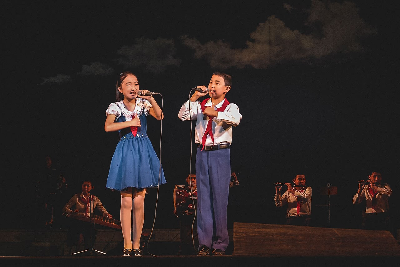 Performance at the at the Mangyondae Children's Palace in Pyongyang, North Korea.