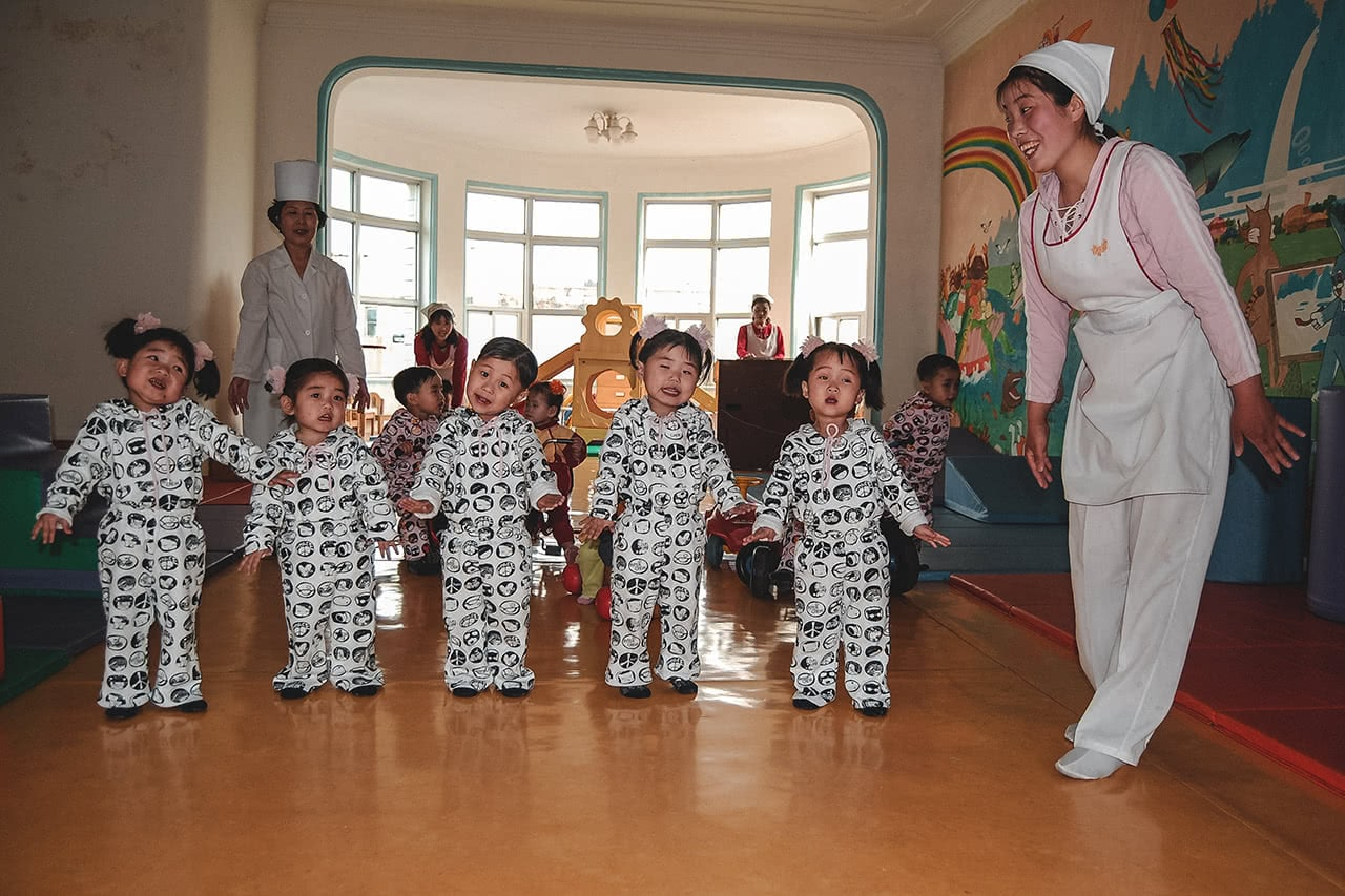 Kids at the Nampo Orphanage in North Korea.