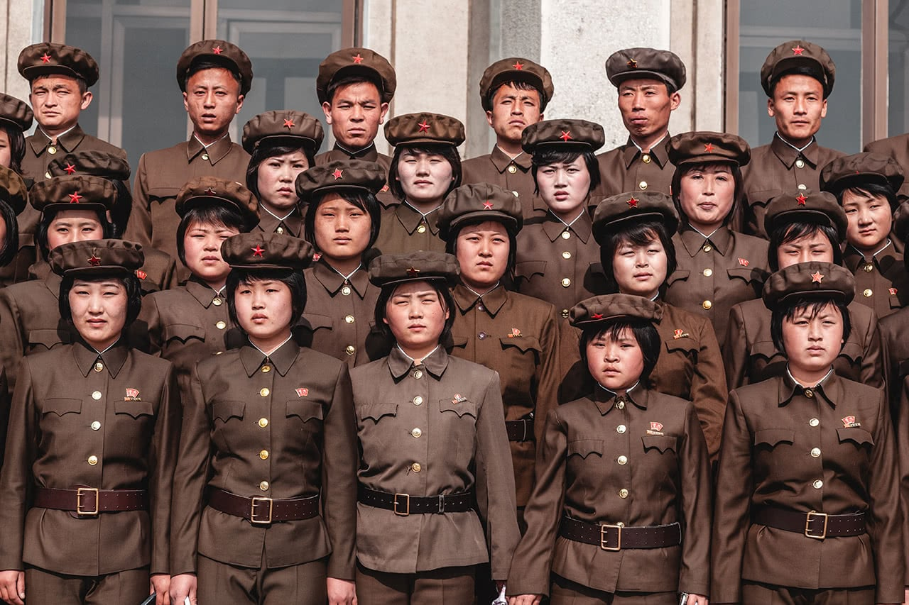 Students in Pyongsong, North Korea.