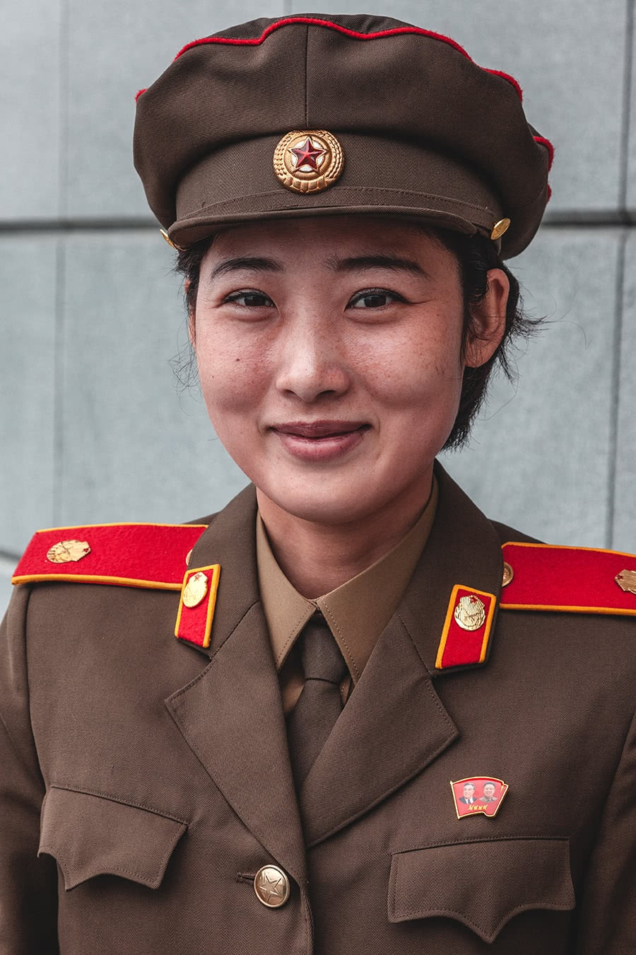 Guide at the Victorious Fatherland Liberation War Museum in Pyongyang, North Korea.