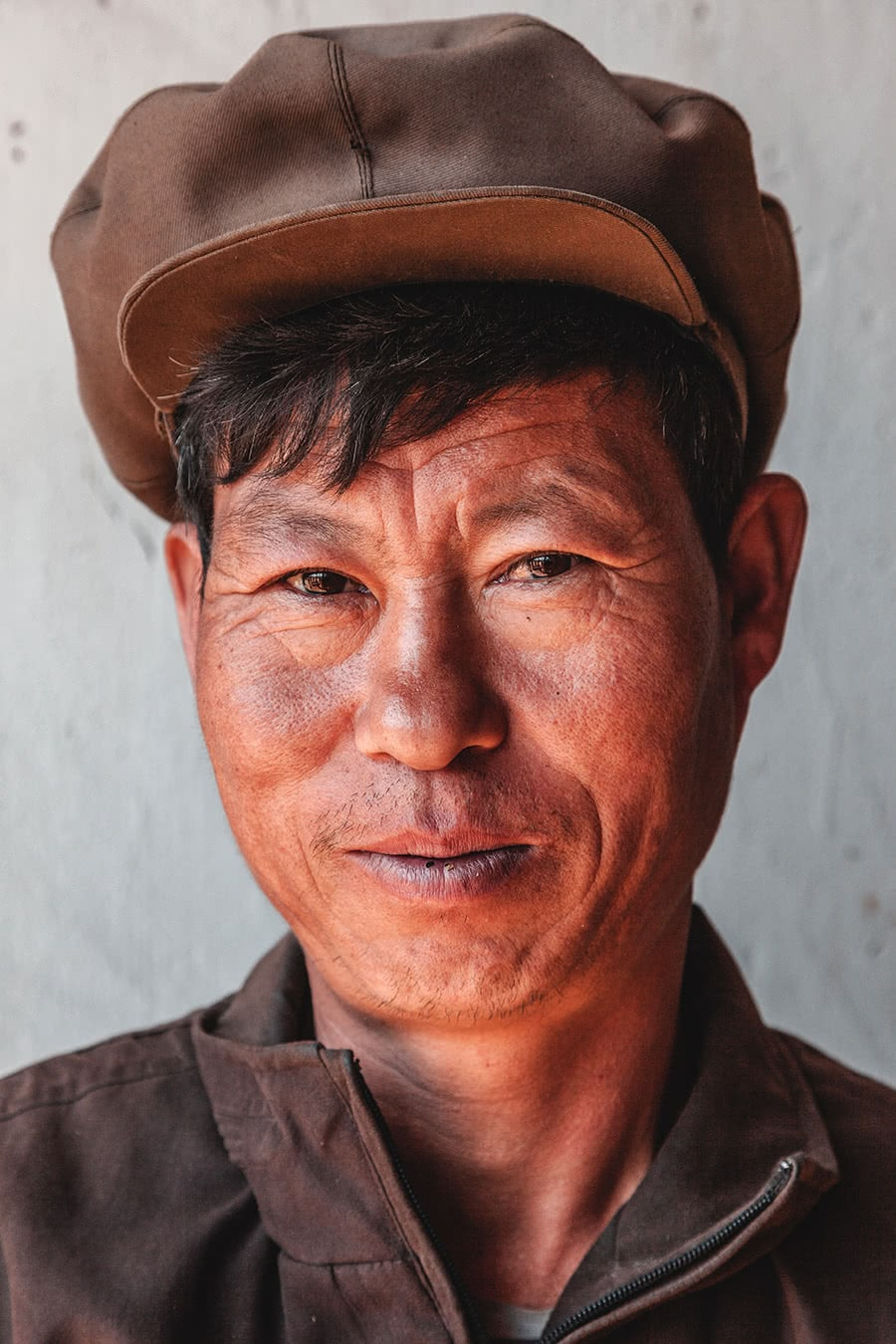 A cooperative farm worker in Hamhung, North Korea.