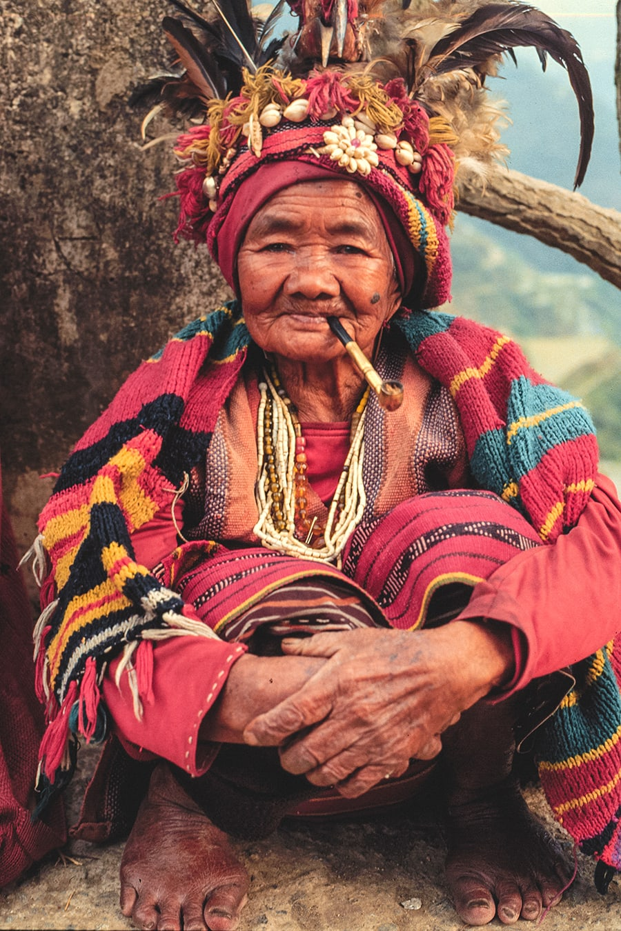 A 90+ year old woman from the Ifugao tribe in Banaue, Philippines.