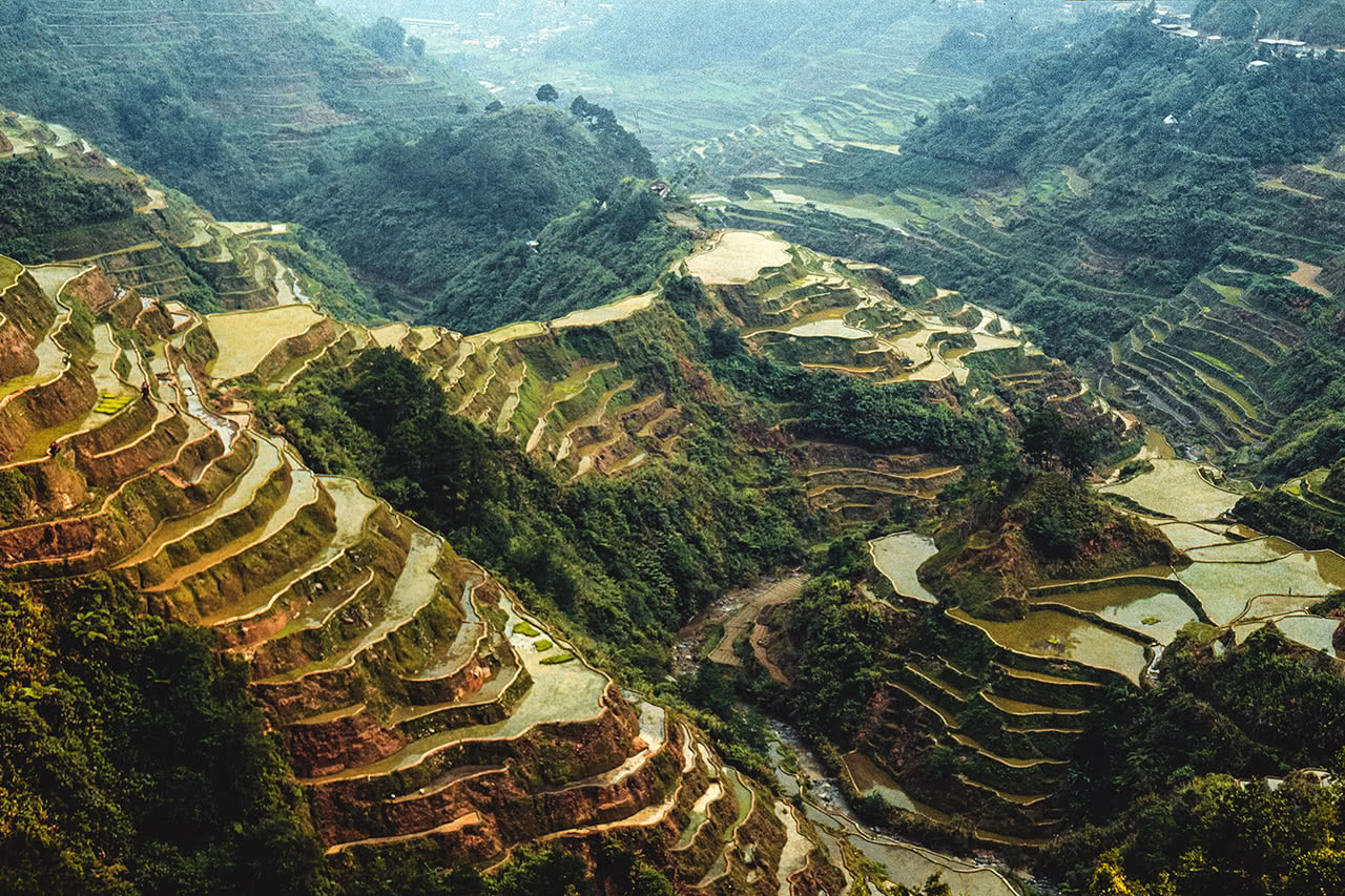 2000 year old rice terraces of Banaue in the Philippines Ifugao province.
