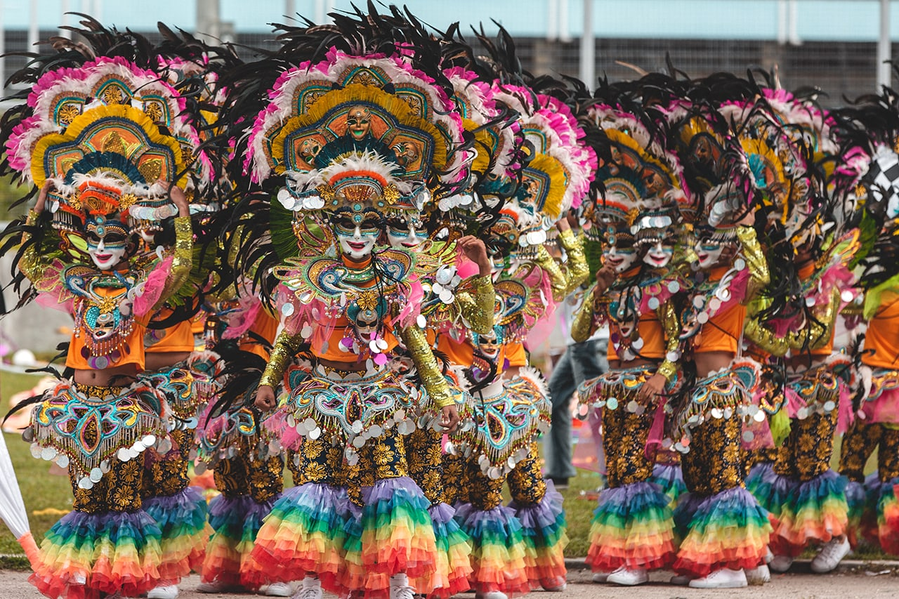 Performers at the Bacolod Masskara Festival in the Philippines.