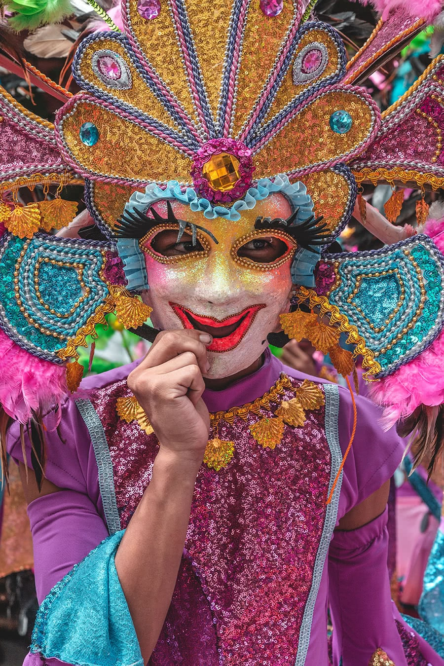 Performer at the Bacolod Masskara Festival in the Philippines.