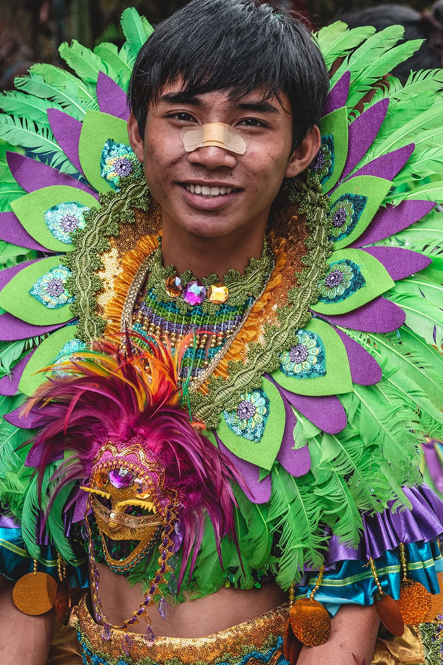 Performer at the Bacolod Masskara Festival in the Philippnes.
