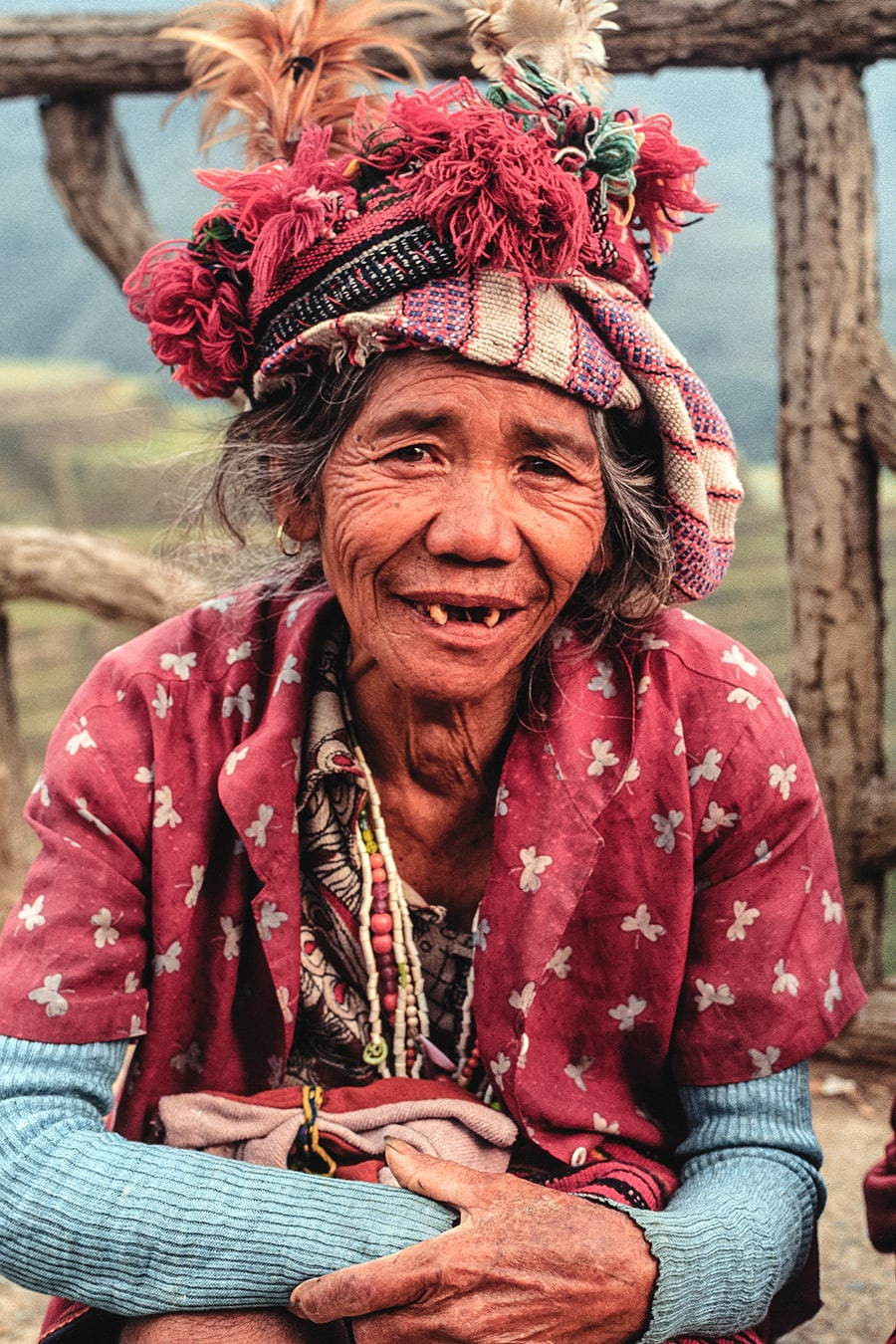 A woman from the Ifugao tribe in Banaue, Philippines.