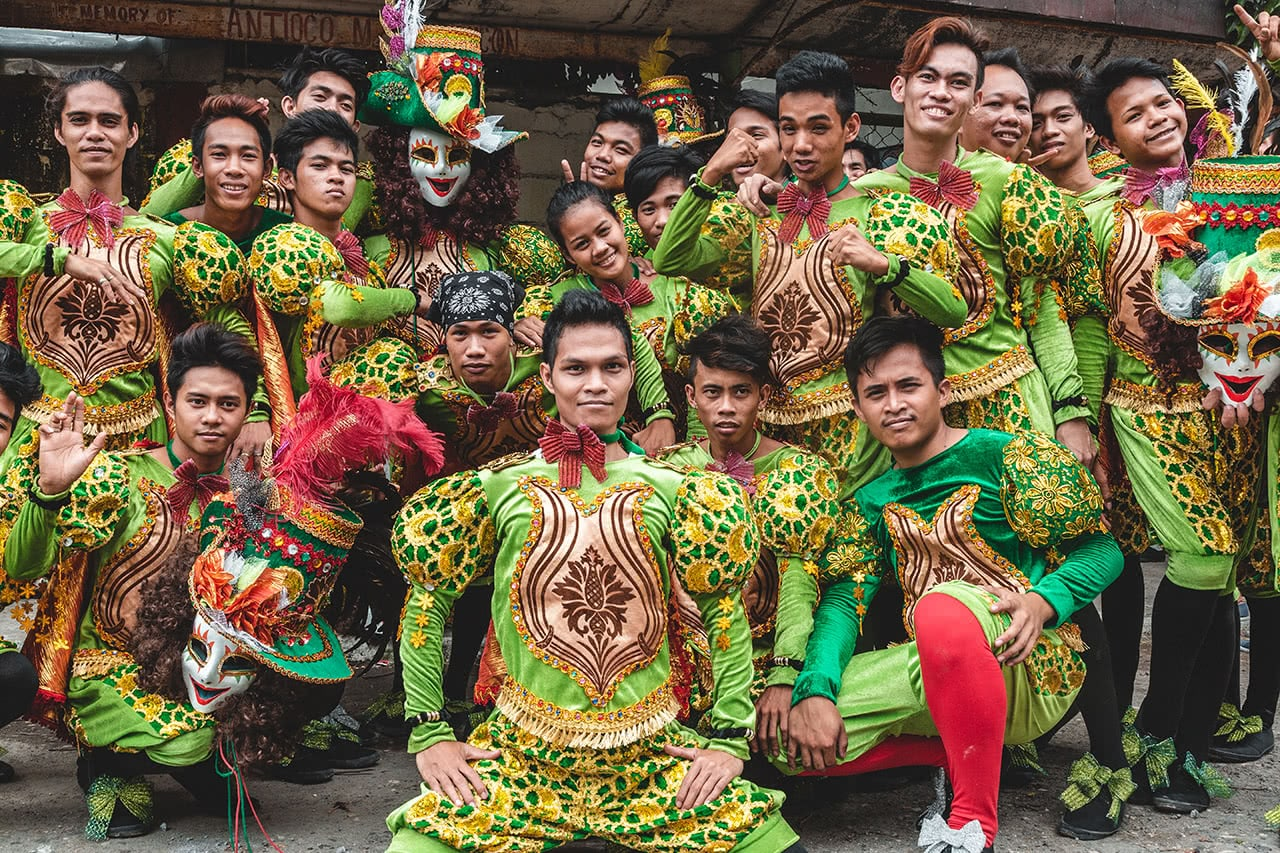 Performers at the Bacolod Masskara Festival in the Philippnes.