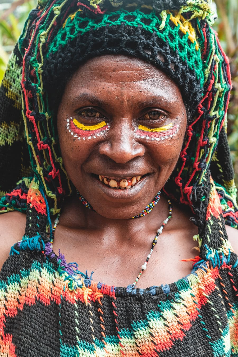 Huli woman in Tari, Papua New Guinea.
