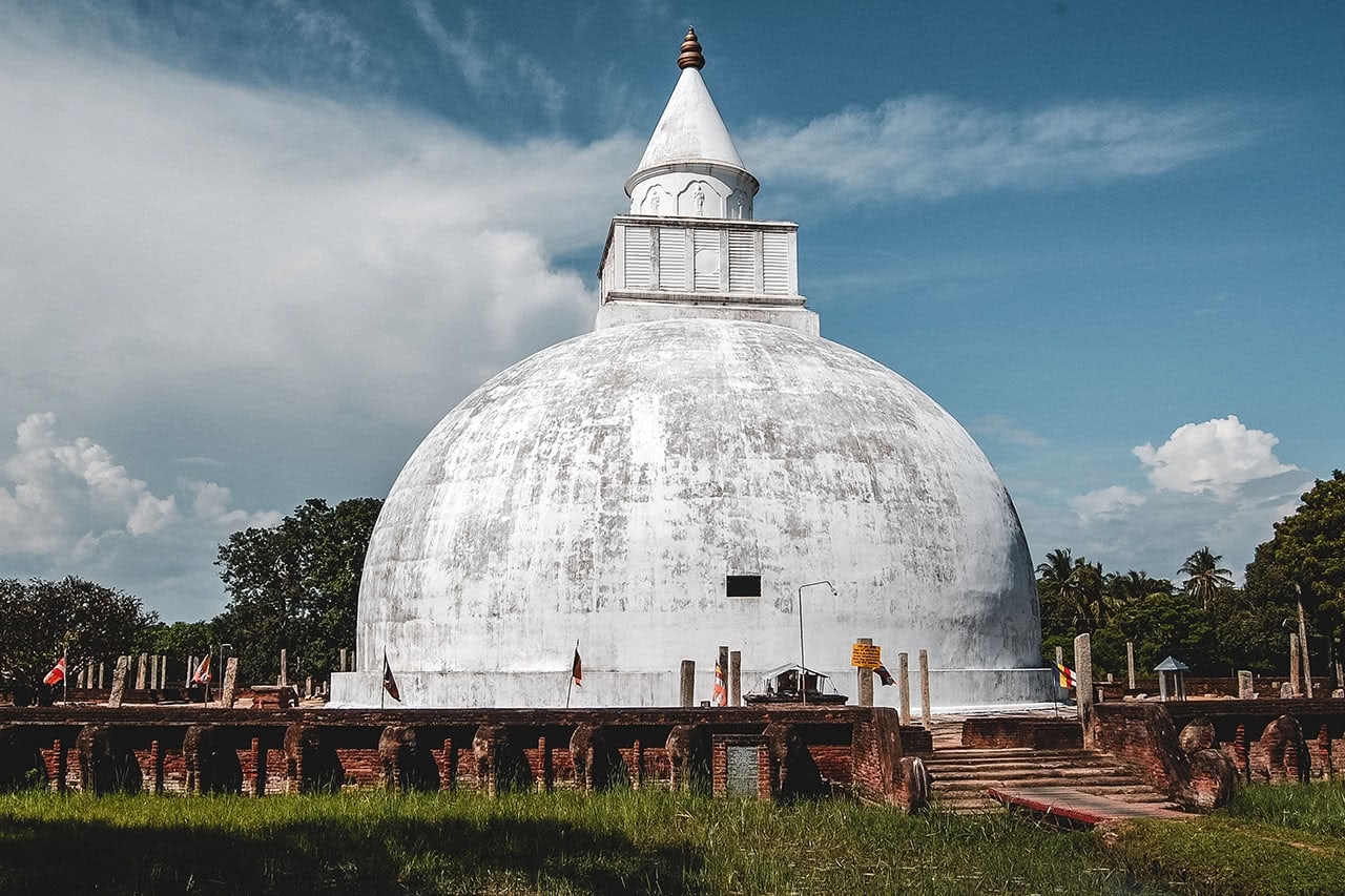 Large stupa in Tissamaharama, Sri Lanka, near Yala National Park.