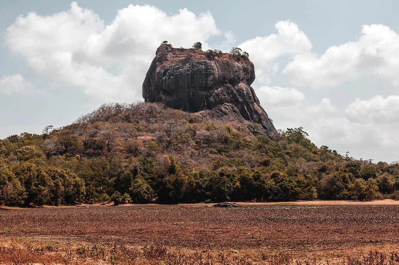 Sigiriya, also known as Lion Rock in Sri Lanka.
