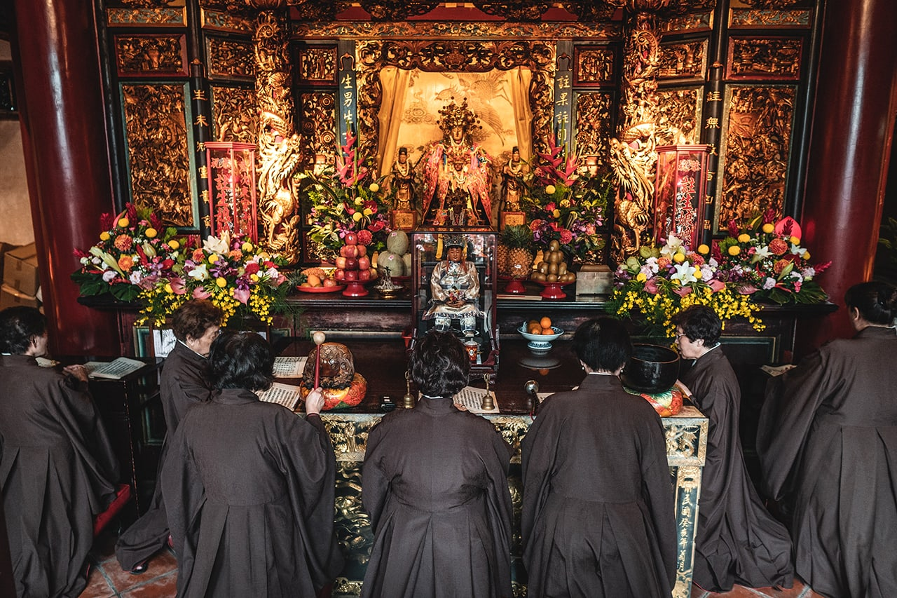 Temple ceremony in Taipei, Taiwan.