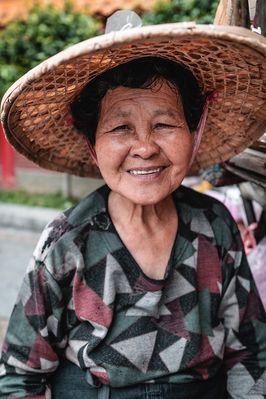 Old woman in Taipei