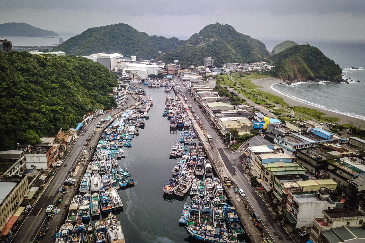 Small port village of Heping, Taiwan.