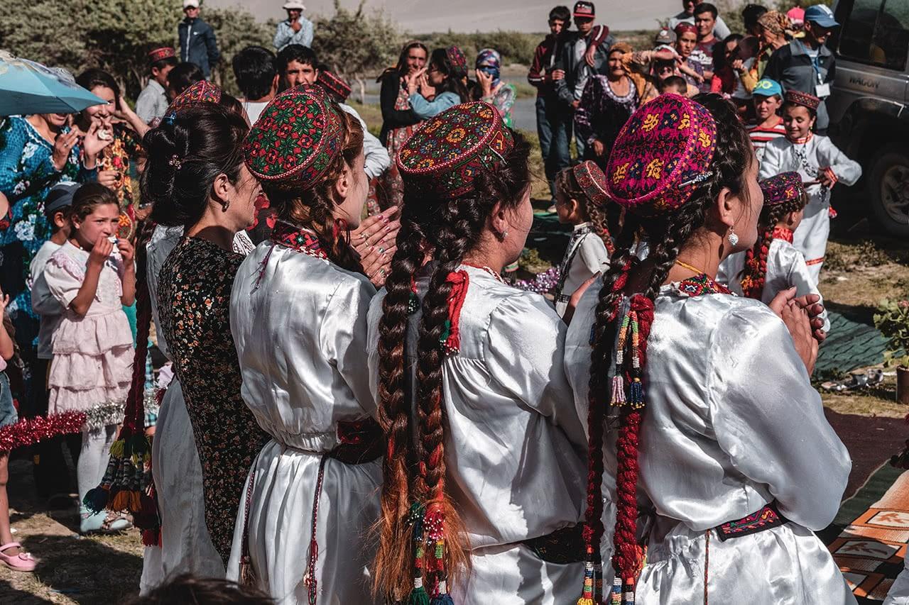 Festival in the Wakhan Valley near Langar in Tajikistan.