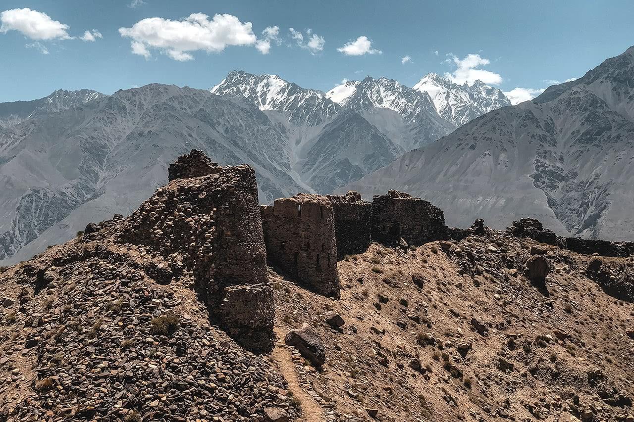 Yamchun Fortress in Ishkoshim, Tajikistan, a popular stop along the Pamir Highway.