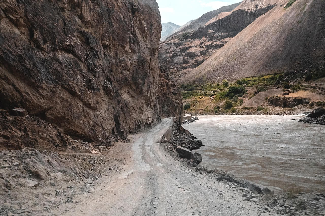 8 hours on the Pamir Highway - Khalai Khum to Khorog. with Tajikistan on the left and Afghanistan on the right.