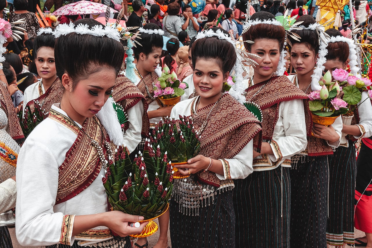Thai dancers at the Phi Ta Khon Festival in Loei.