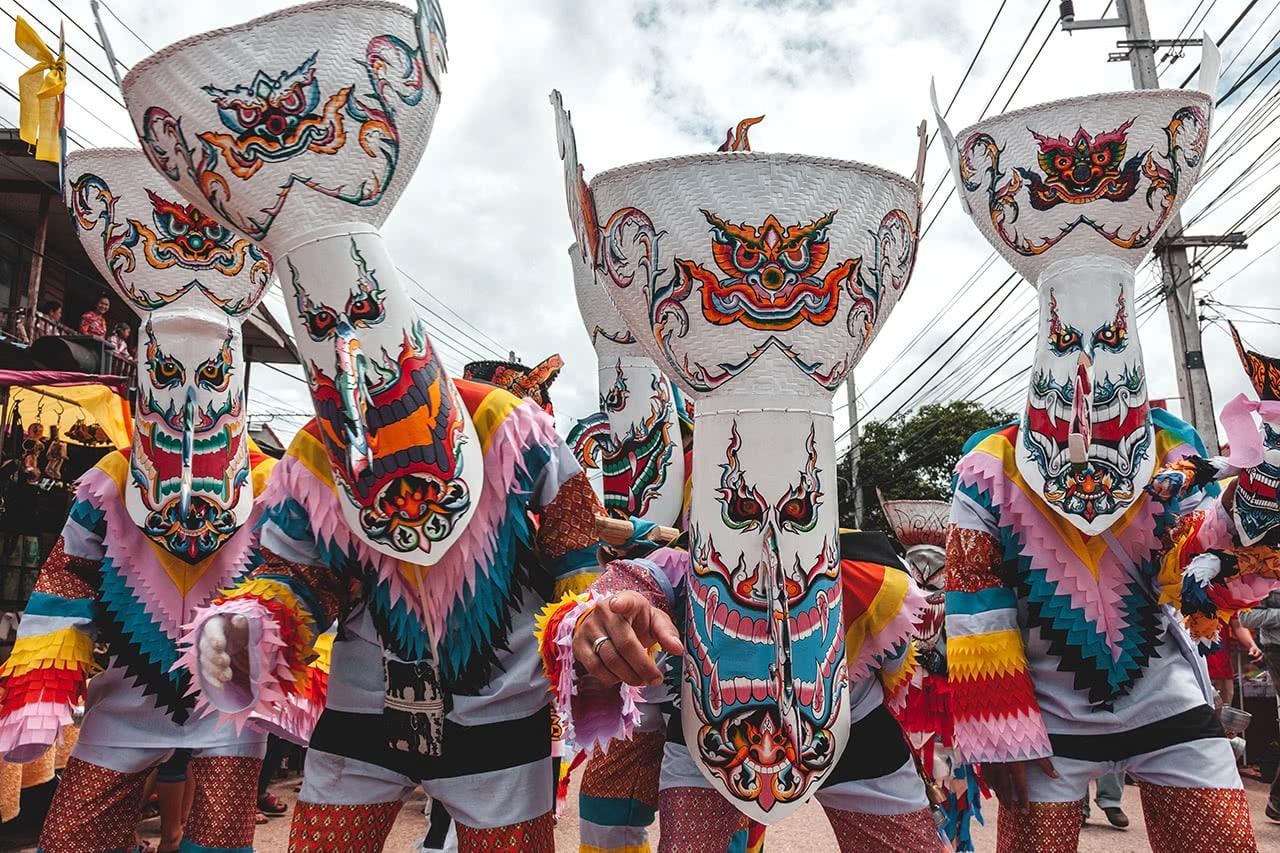 Phi Ta Khon Festival in Loei, Thailand.