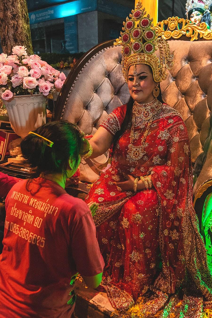 Navaratri festival, Silom Road, Bangkok.