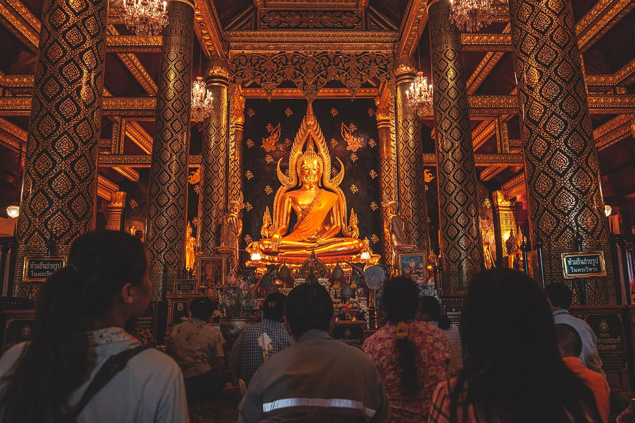 Wat Phra Si Rattana Mahathat in Phitsanulok, Thailand.