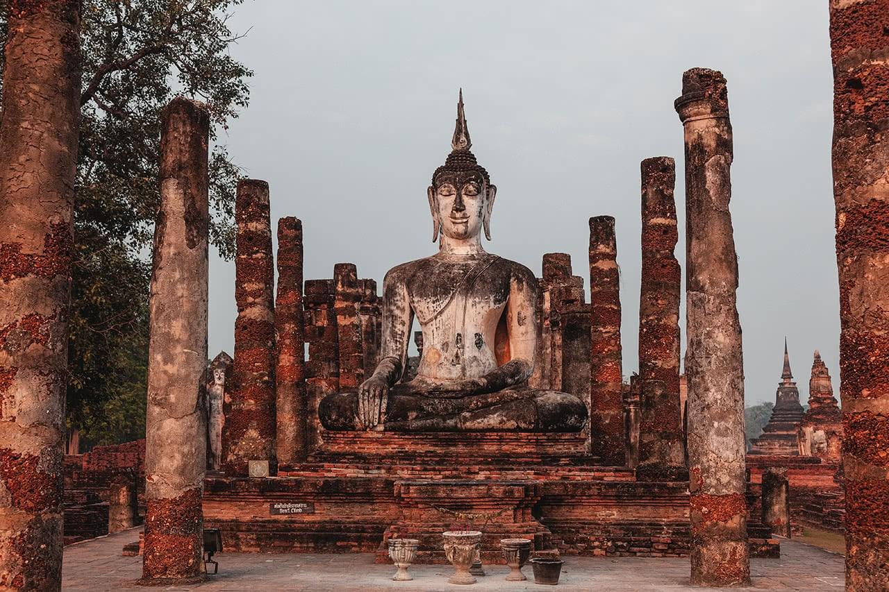 Wat Mahathat in Sukhothai, Thailand.