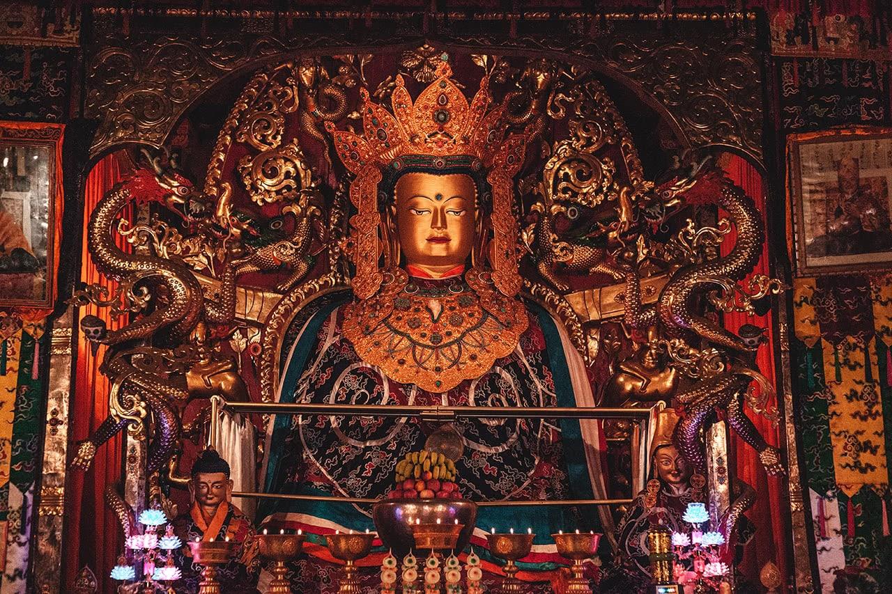 Buddha display at Samye Monastery, Tibet.