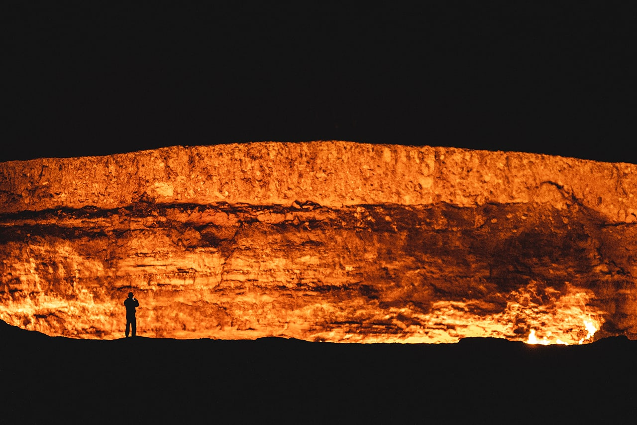 The Darvaza Gas Crater - also known as the Door to Hell
