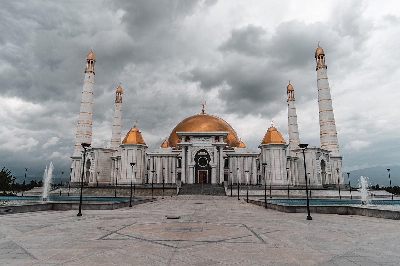 Turkmenbashi Ruhy Mosque near Ashgabat, Turkmenistan