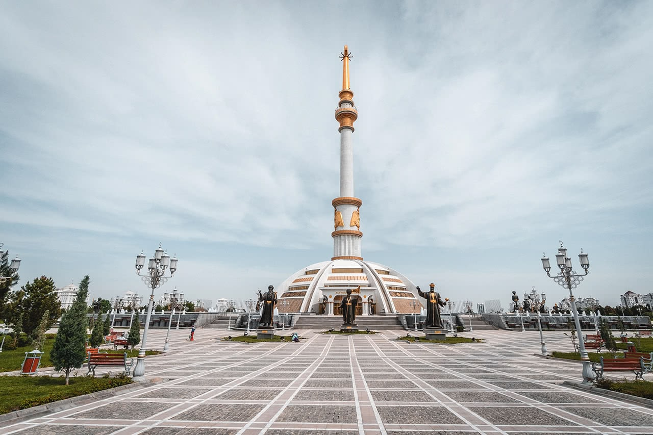 Independence Park in Ashgabat.