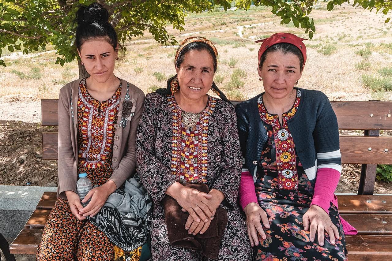 Turkmen women in Ashgabat.