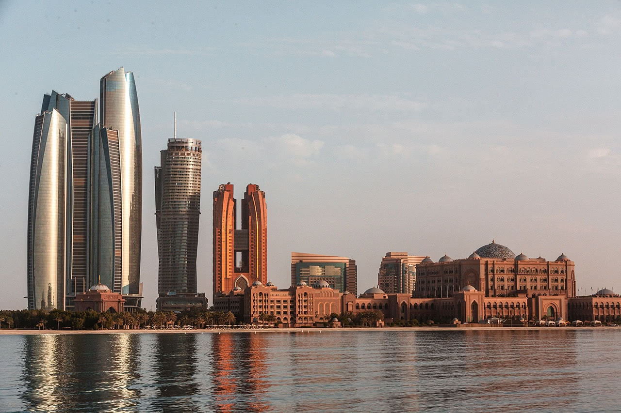 View of the Abu Dhabi skyline.