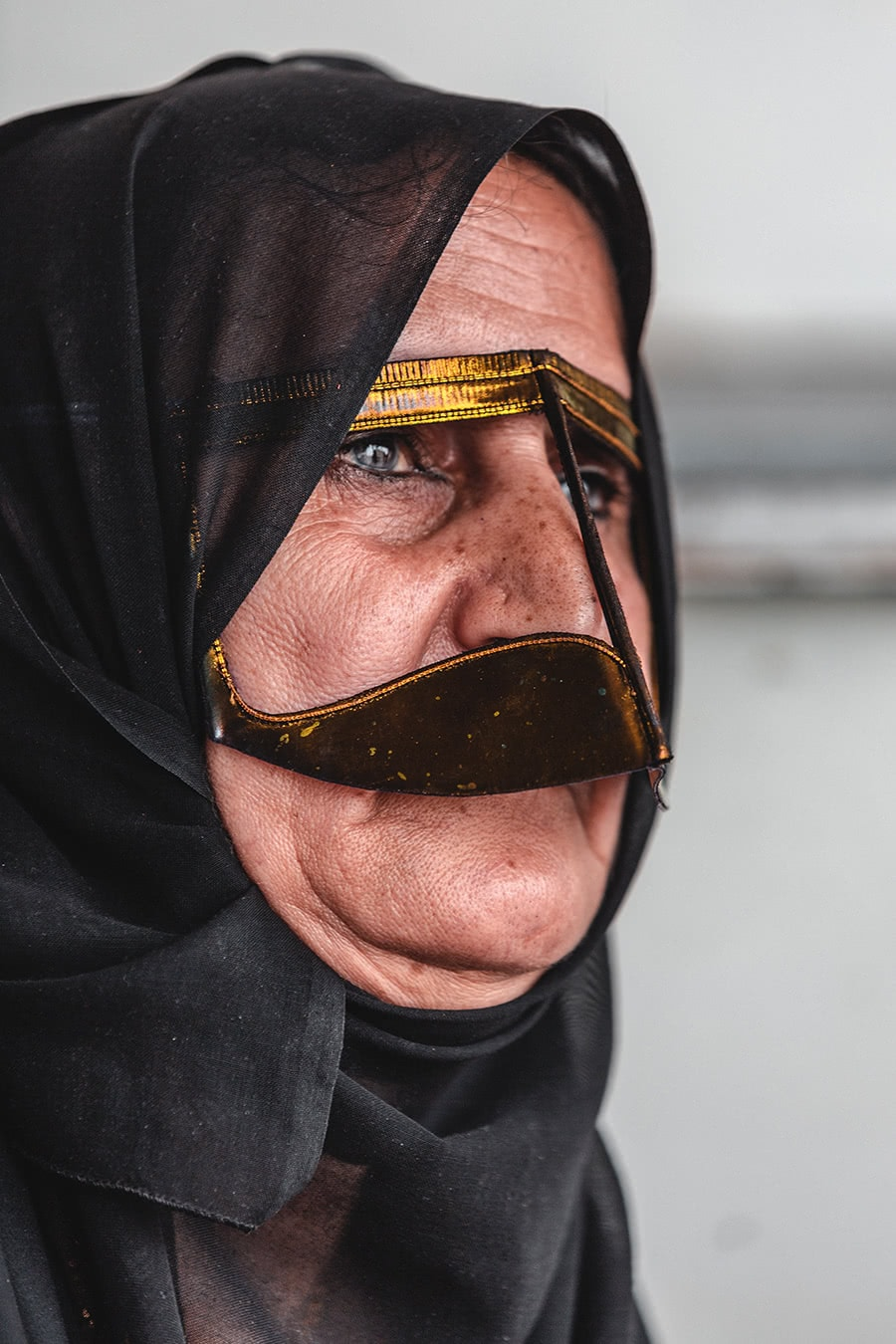 A woman wearing a burka at the Al Ain souk.