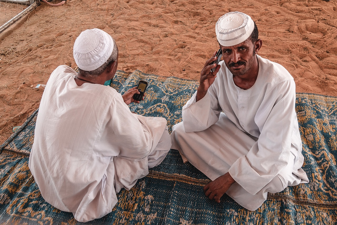 Workers at the Camel Market in Al Ain, UAE.