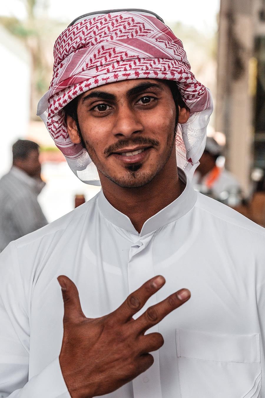 An Emirati man at the Al Ain market.