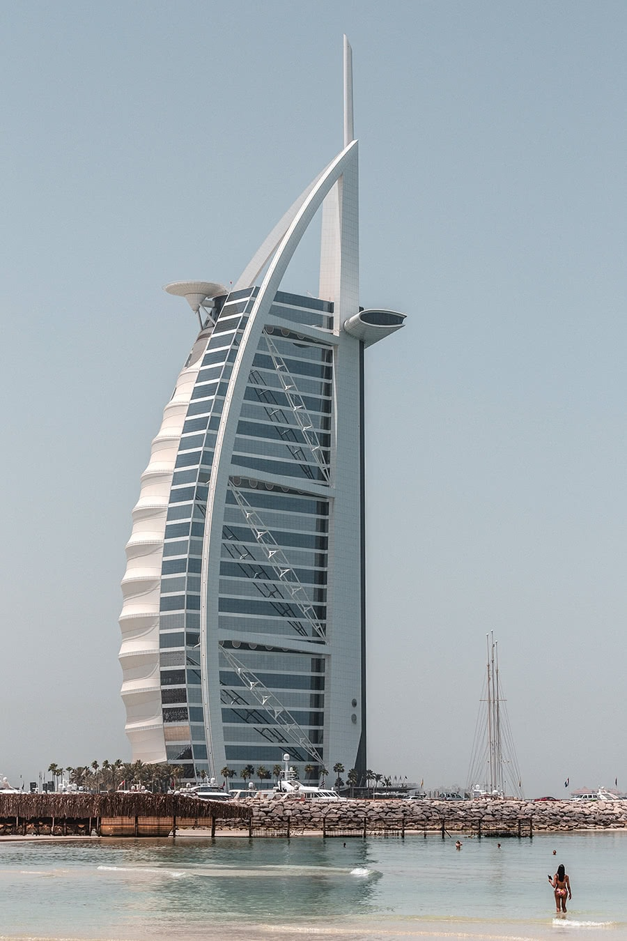 View of the Burj Al Arab hotel in Dubai.