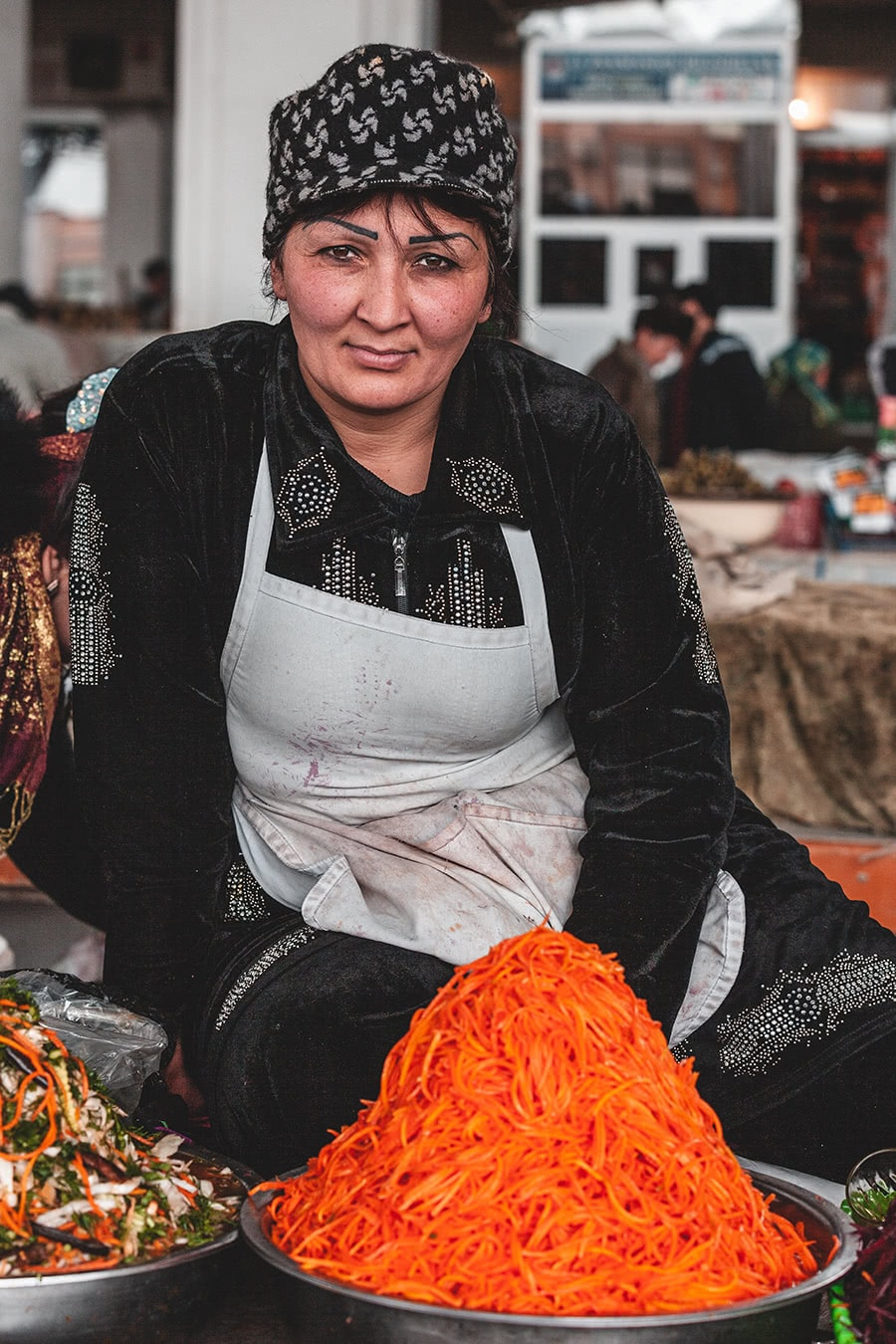 Vendor at the Tashkent market.