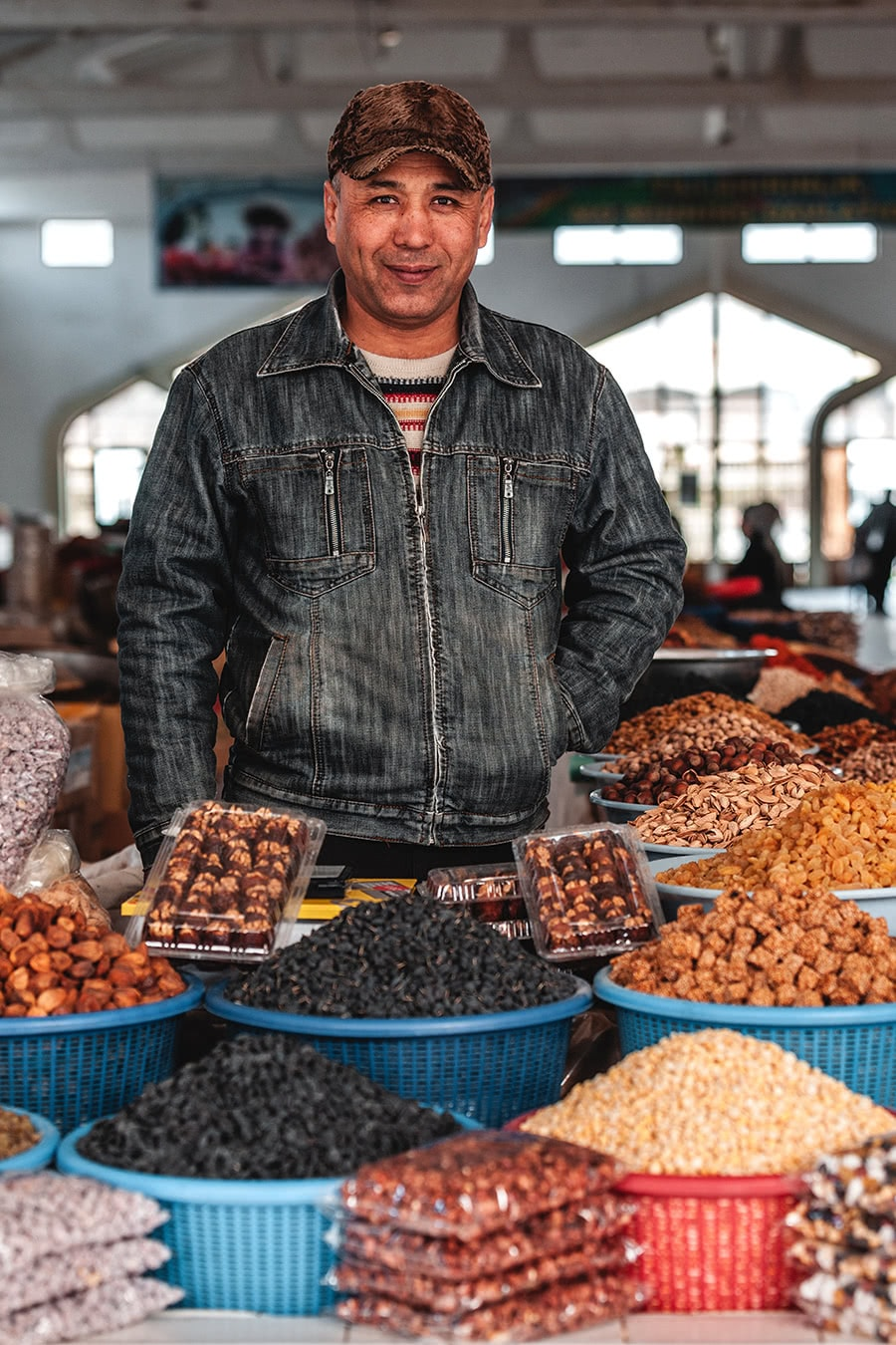Vendor at the Samarkand market.