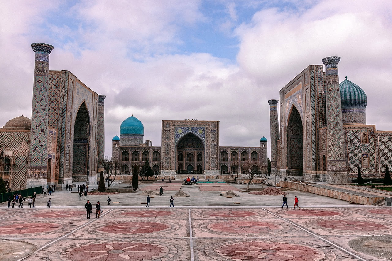 The Registan, Samarkand's main highlight.