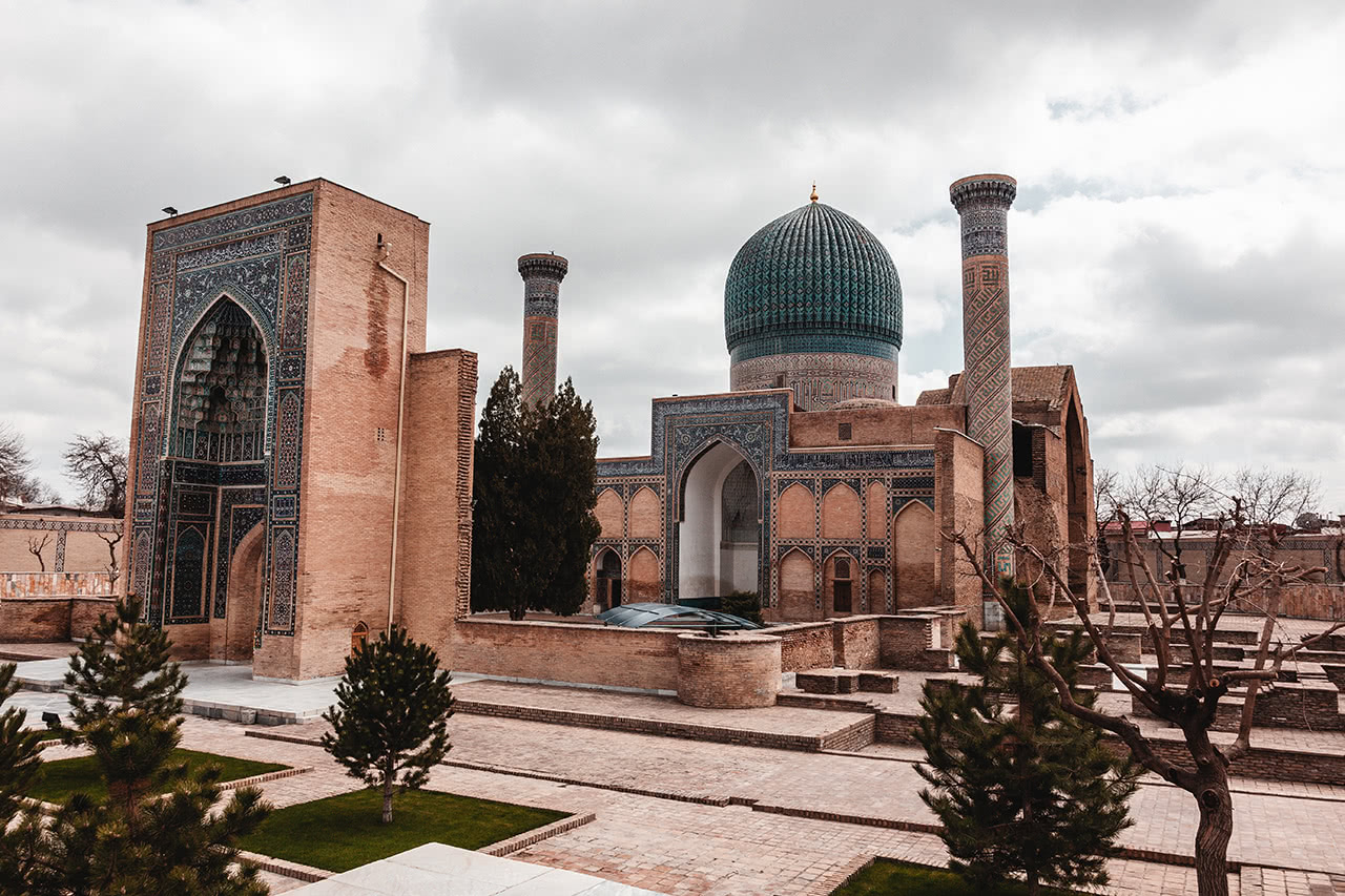 The Gur-Emir Mausoleum in Samarkand.