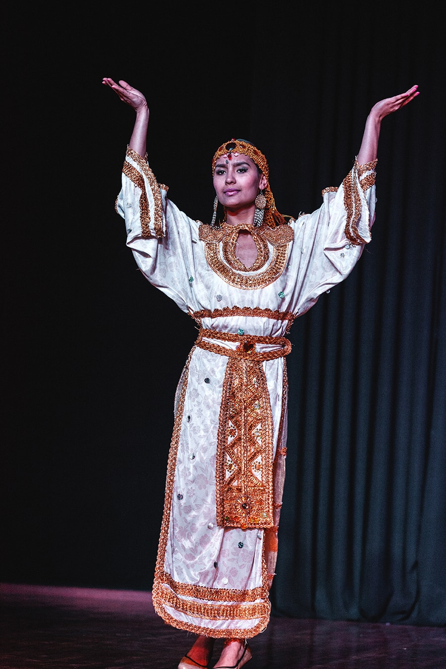 An ethnic dance performer in Samarkand, Uzbekistan.
